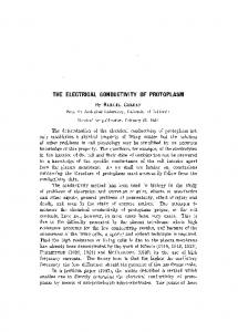 The electrical conductivity of protoplasm
