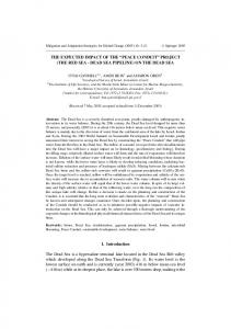 """The expected impact of the """"Peace Conduit"""" project (the Red Sea - Dead Sea pipeline) on the Dead Sea"""