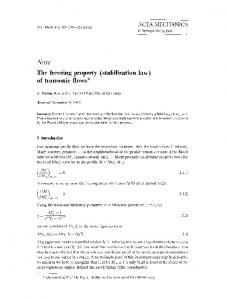 The freezing property (stabilization law) of transonic flows