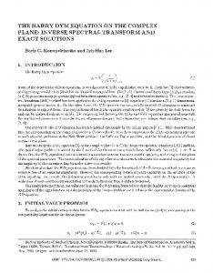 The Harry Dym equation on the complex plane: Inverse spectral transform and exact solutions