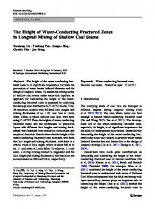 The Height of Water-Conducting Fractured Zones in Longwall Mining of Shallow Coal Seams