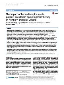 The impact of benzodiazepine use in patients enrolled in opioid agonist therapy in Northern and rural Ontario