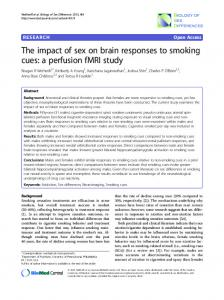 The impact of sex on brain responses to smoking cues: a perfusion fMRI study