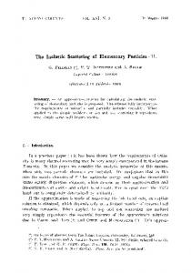 The inelastic scattering of elementary particles — II
