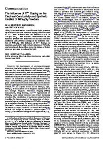 The Influence of Ti4+ Doping on the Electrical Conductivity and Synthetic Kinetics of NiFe2O4 Powders