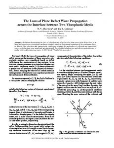 The laws of plane defect wave propagation across the interface between two viscoplastic media