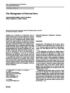 The Management of Electrical Burn