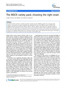 The MDCK variety pack: choosing the right strain