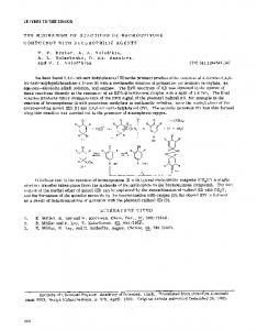 The mechanism of reactions of bromoquinone compounds with nucleophilic agents