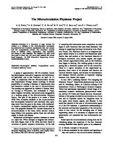 The Microcirculation Physiome Project