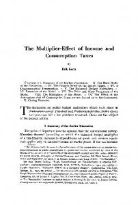 The multiplier-effect of income and consumption taxes