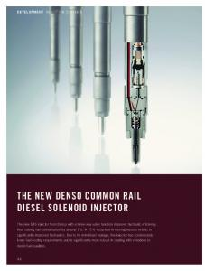 The New Denso Common Rail Diesel Solenoid Injector