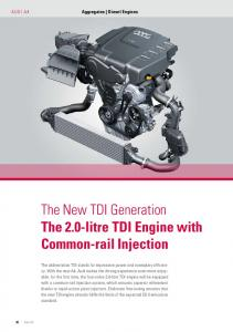 The New TDI Generation – The 2.0-litre TDI Engine with Common-rail Injection