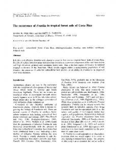 The occurrence of Frankia in tropical forest soils of Costa Rica