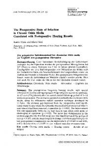 The preoperative state of infection in chronic otitis media correlated with postoperative hearing results