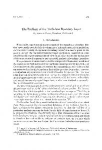 The problem of the turbulent boundary layer