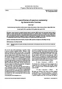 The quantification of quantum nonlocality by characteristic function