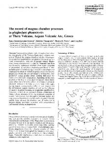 The record of magma chamber processes in plagioclase phenocrysts at Thera Volcano, Aegean Volcanic Arc, Greece