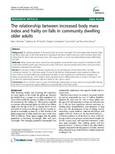 The relationship between increased body mass index and frailty on falls in community dwelling older adults