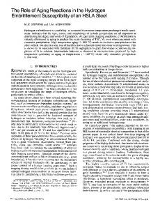 The role of aging reactions in the hydrogen embrittlement susceptibility of an HSLA steel