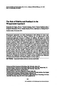 The Role of Fidelity and Feedback in the Wraparound Approach