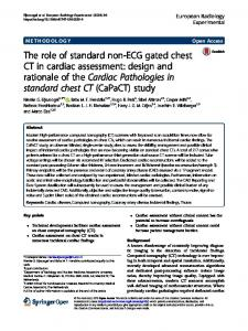 The role of standard non-ECG gated chest CT in cardiac assessment: design and rationale of the Cardiac Pathologies in standard chest CT (CaPaCT) study