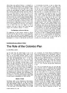 The role of the Colombo plan