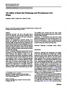 The Safety of Same-Day Endoscopy and Percutaneous Liver Biopsy