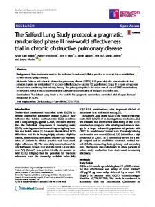 The Salford Lung Study protocol: a pragmatic, randomised phase III real-world effectiveness trial in chronic obstructive pulmonary disease