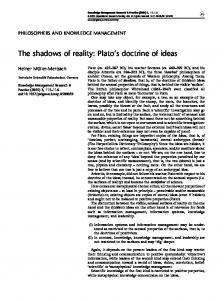The shadows of reality: Plato's doctrine of ideas
