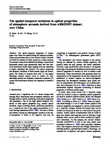 The spatial–temporal variations in optical properties of atmosphere aerosols derived from AERONET dataset over China