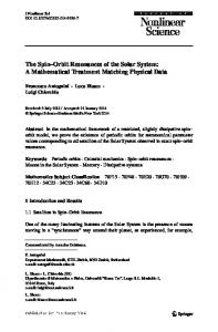 The Spin–Orbit Resonances of the Solar System: A Mathematical Treatment Matching Physical Data