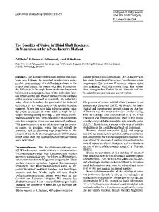 The stability of union in tibial shaft fractures: Its measurement by a non-invasive method
