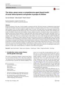 The status–power arena: a comprehensive agent-based model of social status dynamics and gender in groups of children