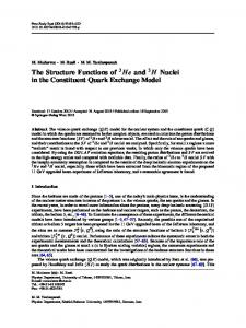 The Structure Functions of 3 He and 3 H Nuclei in the Constituent Quark Exchange Model