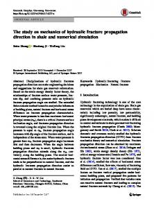 The study on mechanics of hydraulic fracture propagation direction in shale and numerical simulation