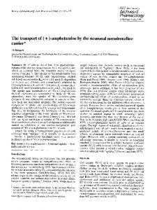 The transport of (+)-amphetamine by the neuronal noradrenaline carrier