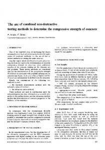 The use of combined non-destructive testing methods to determine the compressive strength of concrete