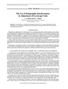 The use of holographic interferometry in adjustment of gyroscope units