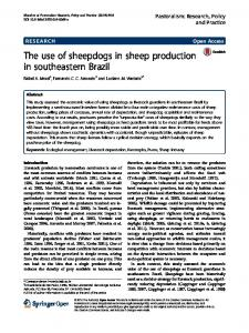 The use of sheepdogs in sheep production in southeastern Brazil