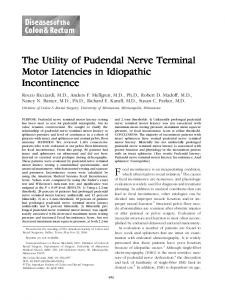 The Utility of Pudendal Nerve Terminal Motor Latencies in Idiopathic Incontinence