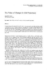 The value of changes in life expectancy