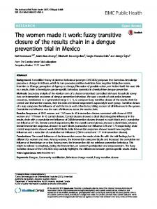 The women made it work: fuzzy transitive closure of the results chain in a dengue prevention trial in Mexico