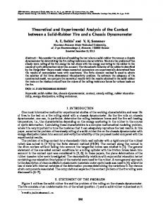 Theoretical and experimental analysis of the contact between a solid-rubber tire and a chassis dynamometer