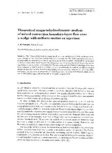 Theoretical magnetohydrodynamic analysis of mixed convection boundary-layer flow over a wedge with uniform suction or injection
