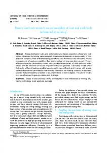Theory and test research on permeability of coal and rock body influenced by mining