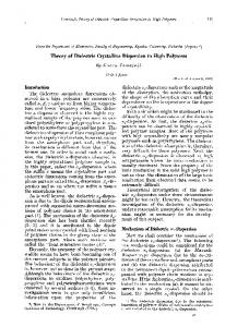 Theory of dielectric crystalline dispersion in high polymers