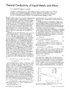 Thermal conductivity of liquid metals and alloys