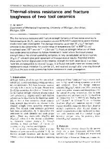 Thermal-stress resistance and fracture toughness of two tool ceramics