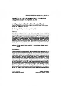 Thermal Study of Surfactant and Anion Adsorption on Clinoptilolite